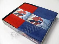 Set Asciugamani Asilo Spiderman Rosso Blu Digitale Asciugamano Marvel Caleffi