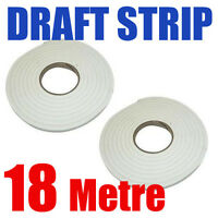 18M Foam Window Door Draft Draught Excluder Weather Strip Insulation Roll