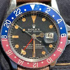 Rolex GMT-Master 1675 Pepsi Pink Matte Mark 2 Dia Vintage c. 1972 Steel 40 mm