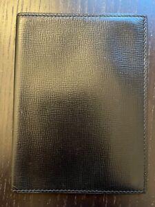 Valextra passport holder black calfskin leather