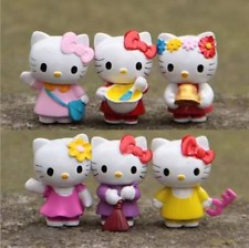 6ps Mini lovely Hello kitty Anime action figure collection PVC Toy Gift Cake top