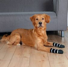 1 Pair of Black Dog Socks Anti-Slip Rubber Coated Extra Secure S-M