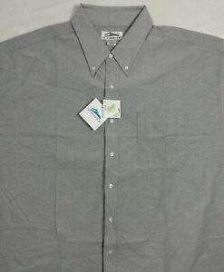 Tri-Mountain Men's Teflon Stain Resistant Finish Twill Shirt Size 4XLT NWT.