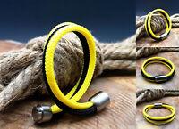 Segeltau Armband NEU Schwarz Gelb Dortmund Handarbeit Damen Herren Magnet