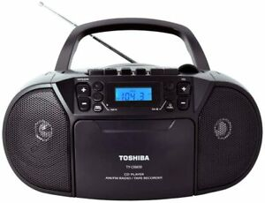 Toshiba TYCKM39 Portable Stereo MP3 CD Player Cassette Boombox Speakers AM FM
