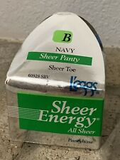 LEGGS Sheer Energy ALL SHEER Pantyhose - NAVY -Size B - NEW