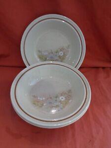 "Royal Doulton Lambethware Florinda L.S.1042 8"" Rimmed Soup Bowl x 3"