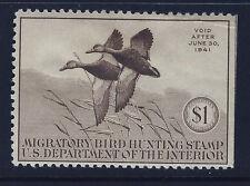 Bigjake: RW7, 1940 Federal Duck Stamp, $1.00 Black Mallards