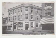 Derry,New Hampshire,First National Bank & Post Office,Rockingham Co.Used,1919