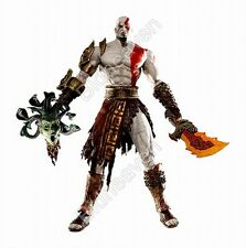 "NECA 7"" God of War Kratos in Golden Fleece Armor with Medusa Head Action Figure"
