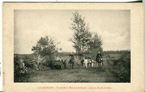 La Reunion France - Route de St-Pierre a St-Louis Convoi de Prisonniers postcard