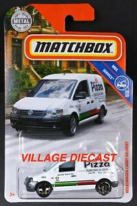 2019 Matchbox #86 Volkswagen Caddy Delivery WHITE / PIZZA / MOC