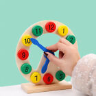 Wooden Clock Toy Time Teaching Tool Clock Cognitive Puzzle Toy for Kids Toddlers