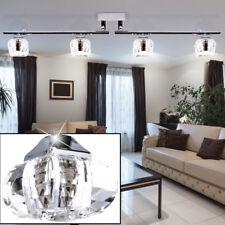 Ceiling luminaire glass light track adjustable living room metal lighting chrome