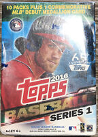 2016 Topps Series 1 MLB Factory Sealed Box Set - 10 Packs + 1 Commemorative Card