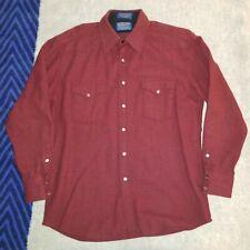 Pendleton High Grade Western Wear Plaid Wool Flannel Snap Button Shirt Sz M