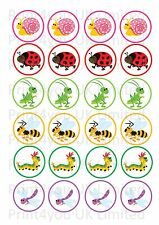 24 icing cake toppers decorations insects butterfly caterpillar ladybird ND2