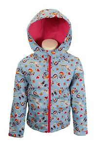 BNWT Girls Kids MY LITTLE PONY Pink Blue Rainbow Dash Fleece Lined Jacket Coat