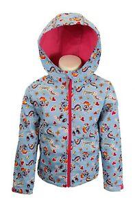 BNWT Girls Kids MY LITTLE PONY Pink Blue Rainbow Dash Fleece Lined Jacket Coat