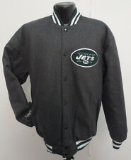 NEW YORK JETS JACKET REVERSIBLE WOOL SATIN NFL FOOTBALL NEW MENS LARGE STITCH