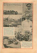Colonel di Barberini Regia Aeronautica Aéroport Le Bourget 1934 ILLUSTRATION
