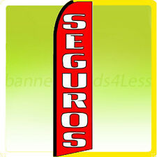 Swooper Feather Flutter Banner Tall Sign 11.5' Flag - SEGUROS rq