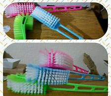 Plastic Long Handle Bathroom Toilet Bowl Scrub Double Side Cleaning Brush BC