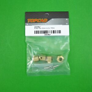 12mm Brass Hex Adaptor +5mm 4pcs for Traxxas TRX-4 & other? 1:10 RC Crawler