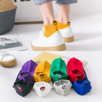 New Women Embroidered Expression Cotton Short Socks Ankle Funny Socks Gift