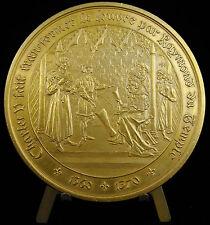 Médaille 263/1250 architecte Raymond du Temple Château du Louvre Charles V medal