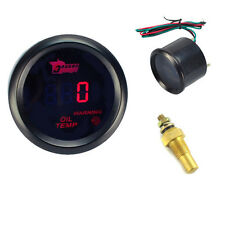 "2"" 52MM Oil Temp Temperature Gauge Auto Meter Digital Red LED Motor Black Shell"