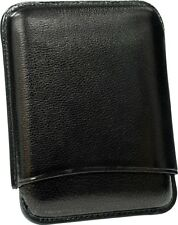MARTIN WESS BLACK COWHIDE/ GOATSKIN LEATHER CIGARILLO CASE ** NEW **