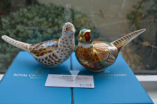 """Royal Crown Derby Paperweights  """"BRACE OF PHEASANTS""""  L Edit 500 1st Quality"""