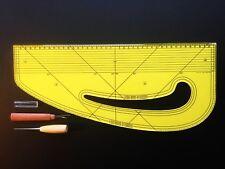 Pattern Maker Fashion Master Metric Acrylic + Awl + Seam Ripper Design-Surgery®
