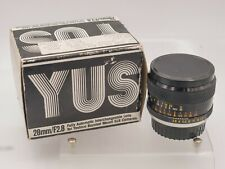 Yashica YUS 28mm F2.8 Contax/Yashica C/Y Mount Lens For SLR/Mirrorless Cameras