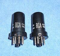 2 RCA 6J5 Vacuum Tubes - 1960's Vintage Triodes for Radios & Audio Amps