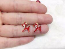 1 pair Christmas deer Christmas Gift Round zircon festival earrings men women