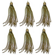 6 Tassel Pendants Charms for Earring Necklace Bracelet Jewelry Making Crafts