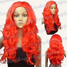 Batman Poison Ivy Red Curly Costume Halloween Cosplay DNA Wigs 002