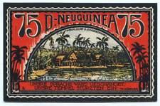 Deutsche Kolonien - D.-Neuguinea - Pfahldorf d. Eingeborenen - 75 Pfennig 1922