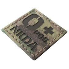 NKDA Opos Blood Type O Infrared IR Multicam Morale 2x2 Laser Hook&loop Patch