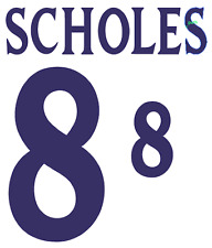 England Scholes 2002 Nameset Shirt Soccer Number Letter Heat Print Football H