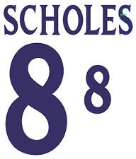 England Scholes 2002 Nameset Shirt Soccer Number Letter Heat Print Football H