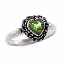 Green Peridot Sterling Silver Fine Rings