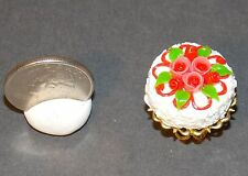 Dollhouse Miniature Cake on Cake Stand D 1:12 one inch scale H125 Dollys Gallery
