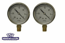 "2-Pk 30-0 inHg 2.5"" Hydraulic-Air-Water Vacuum Gauge"