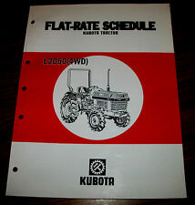 Kubota L2050 4WD Tractor Flat Rate Schedule Manual