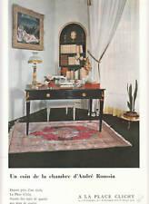 Publicité ancienne tapis  André Roussin 1955 issue de magazine