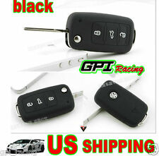 black VW Key Silicone Case Cover Volkswagen GOLF BORA PASSAT BEETLE Jetta