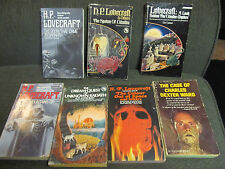7 pb LOT h.p. lovecraft horror colour out of space lin carter spawn of cthulhu!!